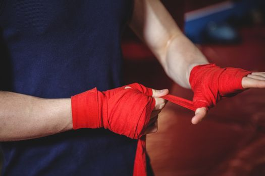 Boxer wrapping boxing strap