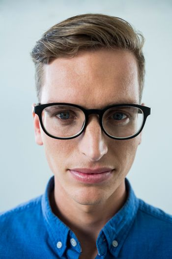 Close-up of man in spectacles