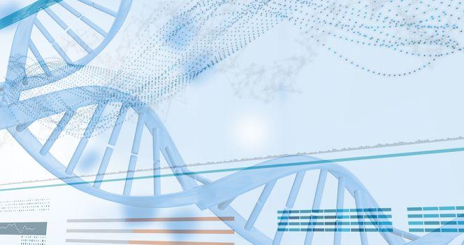 3D genes diagram on white background