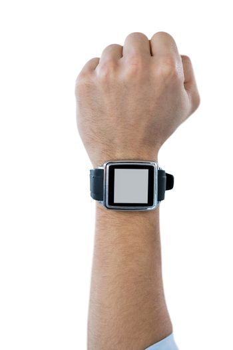 Man showing smart watch
