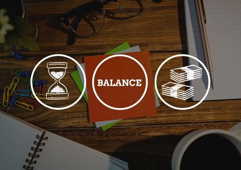 White economic graphic on desk picture