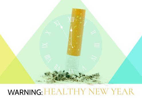 Cigarette with clock