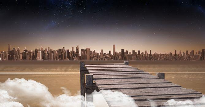 Picture of cityscape horizon