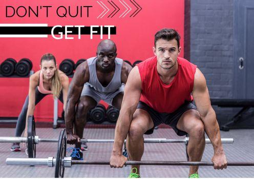 Motivation quote against picture of bodybuilder