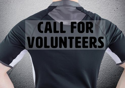 Rugby player call for volunteers