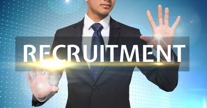 Businessman ready for recruitment