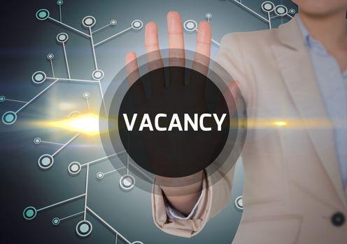 Digital composite of vacancy