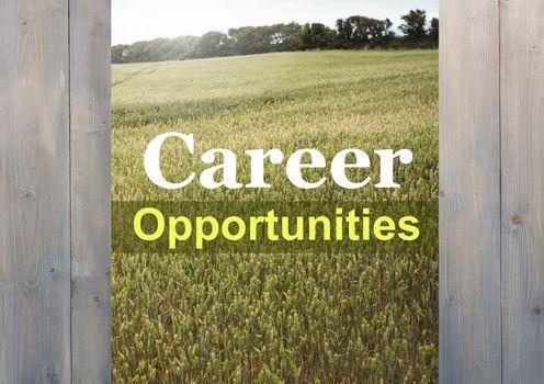 Composite of career opportunities