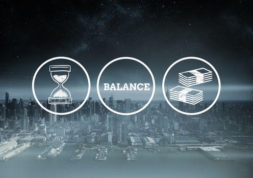 Digital composite of balance