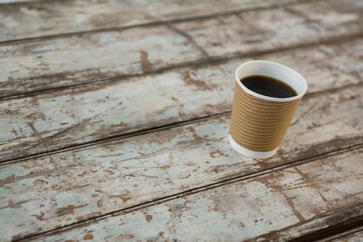 Coffee in disposable cup