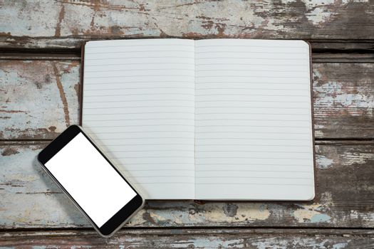 Diary and smartphone