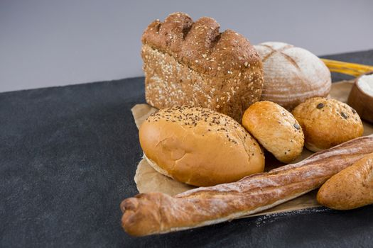 Selection of bread in basket