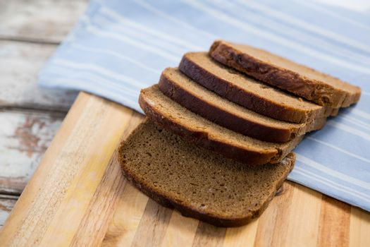 Slices of bread with napkin