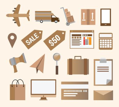 Business retail and transport vector