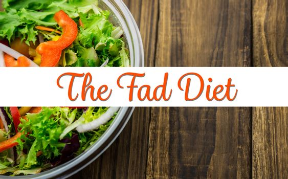 Composite image of the fad diet