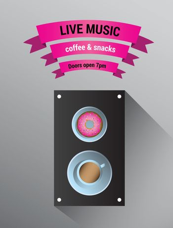 Live music advertisement with speaker
