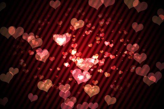 Digitally generated girly heart design