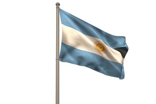 Digitally generated argentina national flag