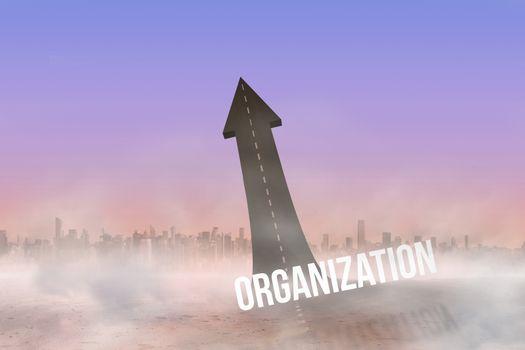 Organization against road turning into arrow