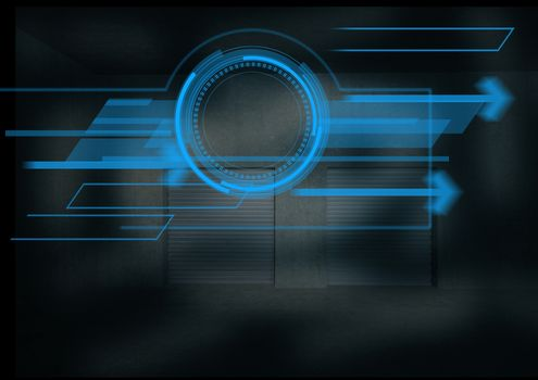 Digitally generated image of a interface design