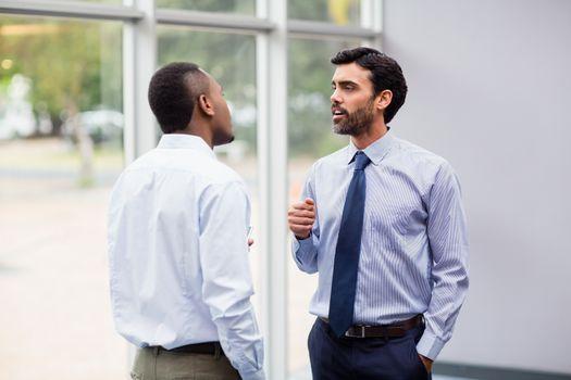 Business executives having an interaction