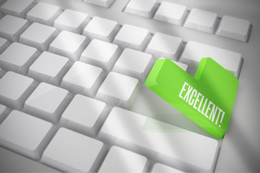 Excellent on white keyboard with green key