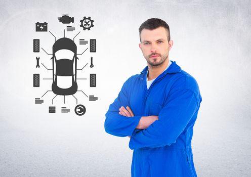 Portrait of a confident automobile mechanic