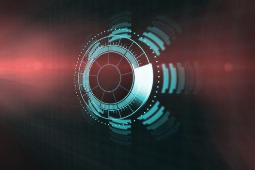 Digitally generated image of volume knob 3d
