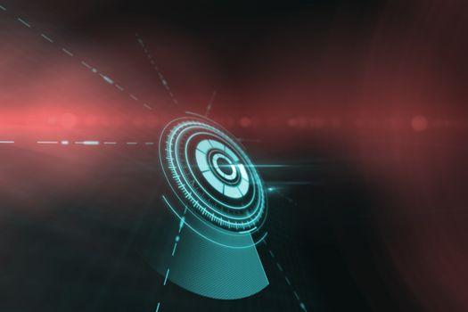 Digitally generated image of volume knob