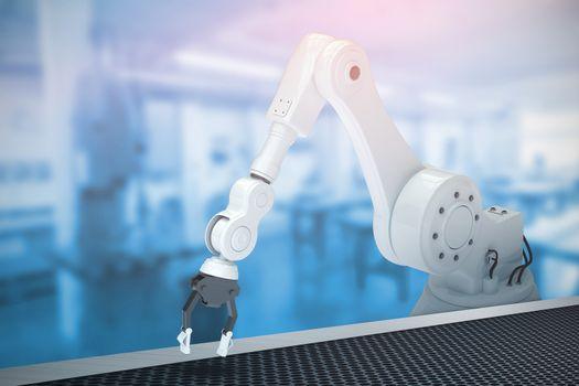 Composite image of robotic arm 3d