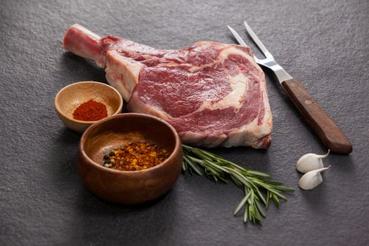 Rib chop and ingredients