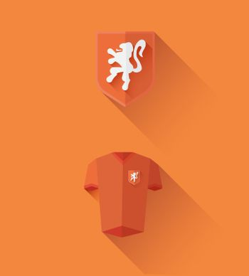 Dutch jersey and crest vector