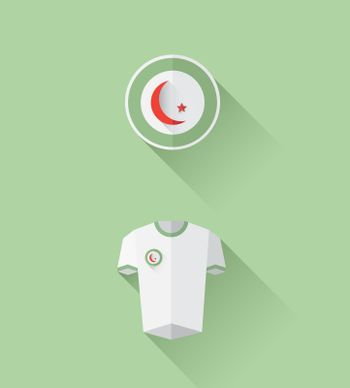 Algeria jersey and crest vector