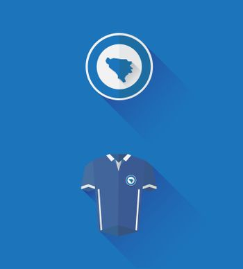 Bosnia jersey and crest vector