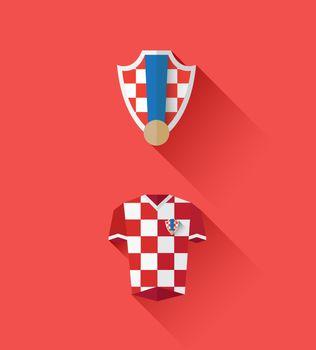 Croatia jersey and crest vector