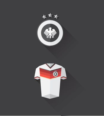 Germany jersey and crest vector
