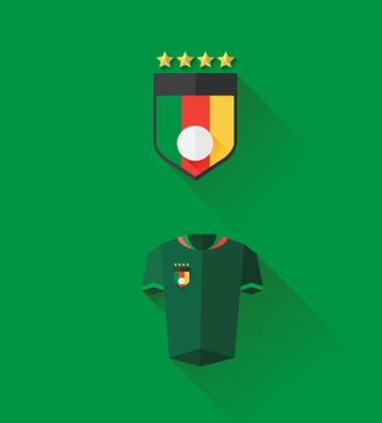 Cameroon jersey and crest vector