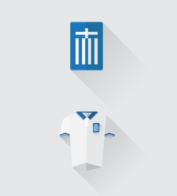 Greece jersey and crest vector