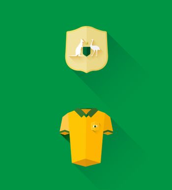 Australia jersey and crest vector