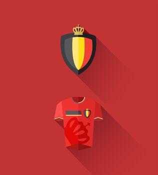Belgium jersey and crest vector