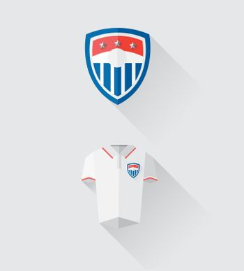 USA jersey and crest vector