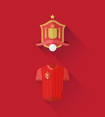 Spain jersey and crest vector