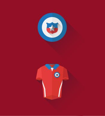 Chile jersey and crest vector