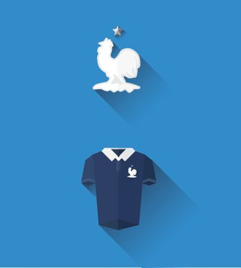 France jersey and crest vector
