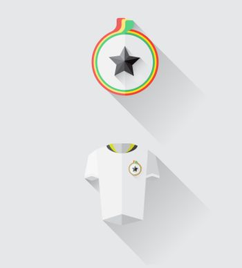 Ghana jersey and crest vector