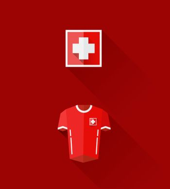 Swiss jersey and crest vector