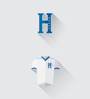 Honduras jersey and crest vector