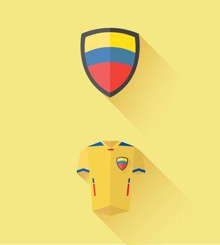 Ecuador jersey and crest vector