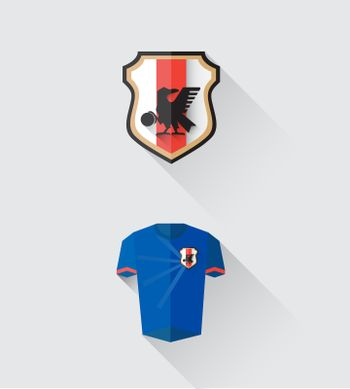 Japan jersey and crest vector