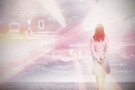 Businesswoman considering a brainstorm